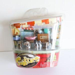 BNIB Snubbies collectible toy dog figurine set pup